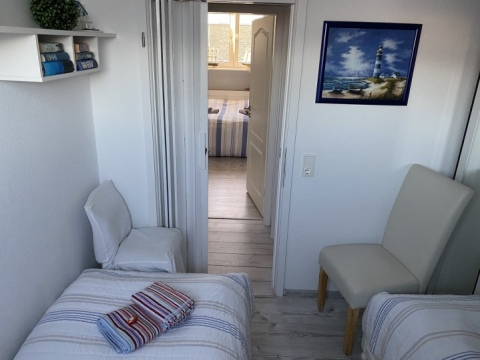 kleineres Schlafzimmer des Appartement Meeresidyll