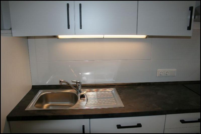 Spüle der Küche des Appartement Meeresidyll