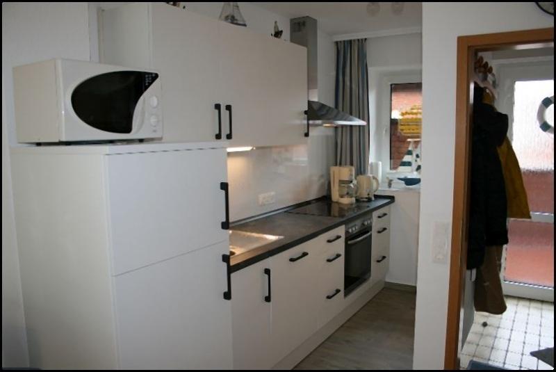 Gesamtansicht von der Küche des Appartement Meeresidyll