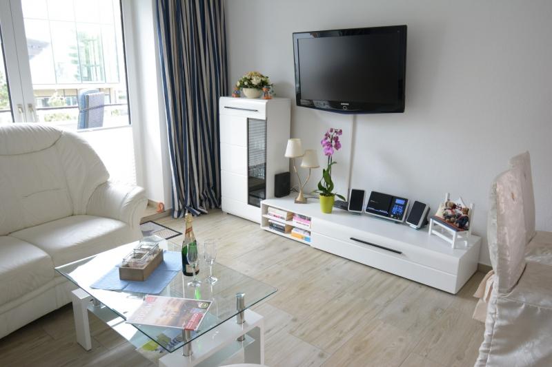 TV Bereich des Appartement Meeresidyll